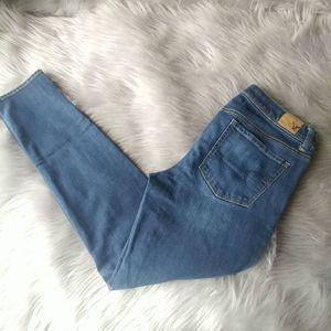 AEO Super Skinny Jeans 8 Long Med. Wash